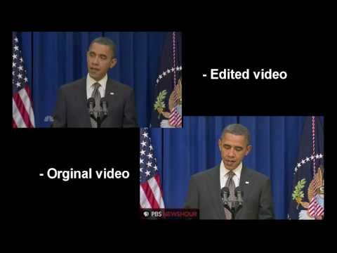 comparison - Barack Obama kicking the door has been edited. Transition of the Presidential Flag 0:27 to 0:28 I think they used an actor that looks remarkably like the US ...