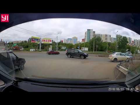 Авария в Уфе на улице Армавирской
