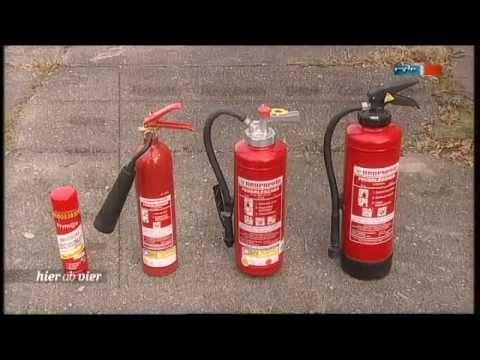 Richtiger Umgang mit Feuerlöschern mdr Beitrag