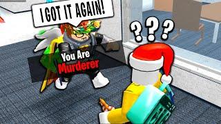 ROBLOX MURDER MYSTERY 2 HACKER GETS MURDERER EVERY TIME