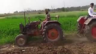 tractor tochan l Escort vs mahindra 275 l best tochan video l ਚਿਟਾ ਤਾਂ ਅੜ ਗਿਅਾ
