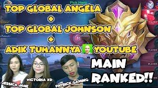 Video TOP GLOBAL JOHNSON + ANGELA BERSATU + JESSICA JANE - Mobile Legends: Bang Bang MP3, 3GP, MP4, WEBM, AVI, FLV November 2018