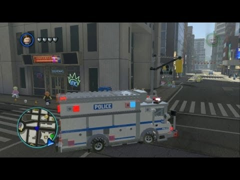 LEGO Marvel Super Heroes - Unlocking Police Truck + Vehicle Showcase (Vehicle Token Guide)