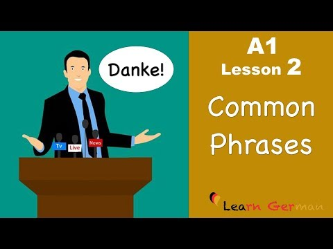 Learn German | Common Phrases | German for beginners | A1 - Lesson 2 (видео)
