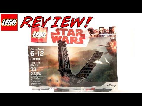 LEGO 30380 Kylo Ren's Shuttle Polybag Review!   LEGO Star Wars 2018 Set!