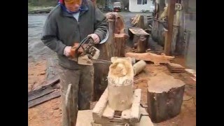 How-To Carve: Simple Bear Head YouTube video