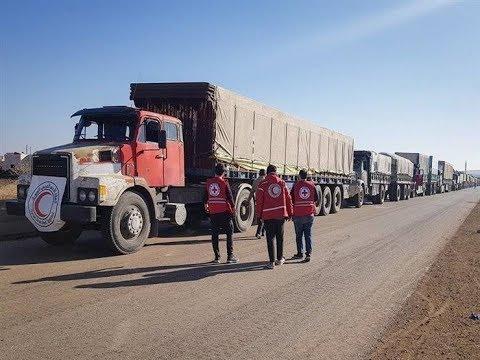 وصول المساعدات لمخيم الركبان السوري بعد 10 أشهر