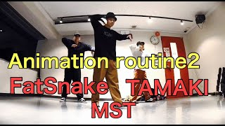 MST & Tamaki & Fat Snake – Animation routine2