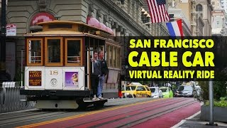 Click to subscribe! http://bit.ly/tonyceceyoutube - While on vacation in San Francisco, California, I took my first every Cable Car ride. It was mesmerizing to travel up and down the crazy hills through traffic and tourists on a trolley pulled by a cable. The ingenuity behind these cable cars is fascinating. I pulled out my Ricoh Theta S to share the experience with those who have not been.  I rode it from Powell and Market St all the way to Fisherman's Warf and then headed over to the Golden Gate Bridge (though that was via Uber).  Enjoy. ----------------------------------------------------------------------------------------------------------Visit my site: https://thetravelingimage.comLike CCxRC on Facebook: https://www.facebook.com/tonycecephotographyFollow on Instagram: https://instagram.com/tonyceceFollow on Twitter: https://twitter.com/tonycece