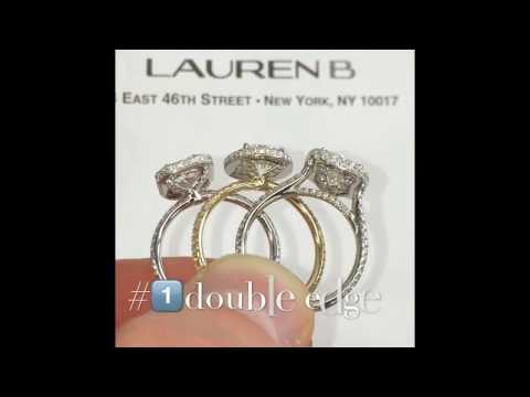 Double Edge Halo Engagement Rings