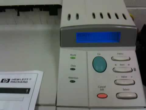 HP LaserJet 4050N Menu Operation for Reset and Configuration Page