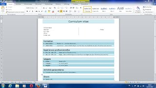 Lien du téléchargement du modèle de CV : http://adf.ly/12251907/cv www.google.com/+downloadforfree1000...