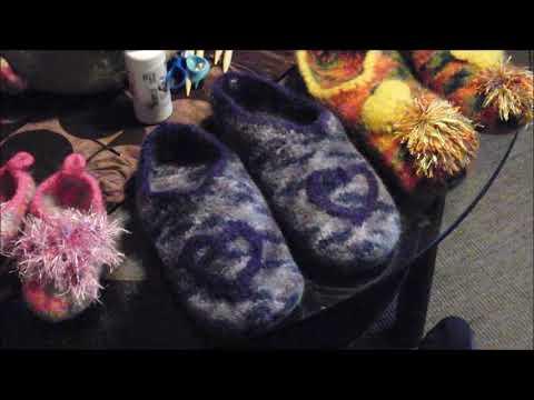 Größenangabe,Maschenangabe, Hausschuhe stricken + filzen;BABY HAUSSCHUHE -Groß