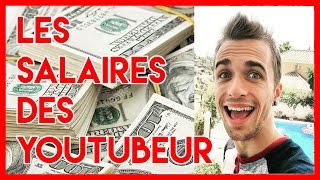 10 SALAIRES DE YOUTUBERS (Squeezie, Math Podcast, Tyrano...)
