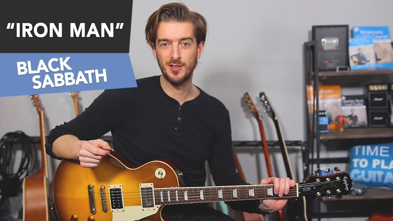 Iron Man EASY Guitar Lesson Tutorial – Black Sabbath – Power Chords for Beginners