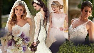 красивые светящие сердечки, цветы, свадебные платья и прически