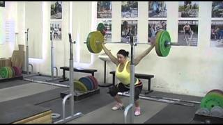 Daily Training 5-8-13 - Weightlifting training footage of Catalyst weightlifters. Dion push pr