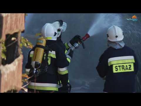Olbrzymi pożar w Krzywem koło Suwałk. Palił się zajazd Gościniec
