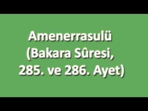 Amenerrasulü Arapça ve Türkçe Oku Dinle İzle - www.oku.gen.tr