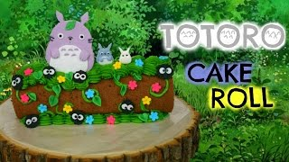 HOW TO DECORATE TOTORO ROLL CAKE