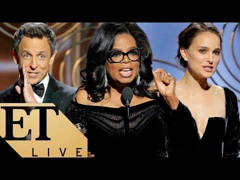 ET Live 2018 Golden Globes Post Show: Oprah's Speech, Natalie Portman's Mic Drop, & All The Winners!