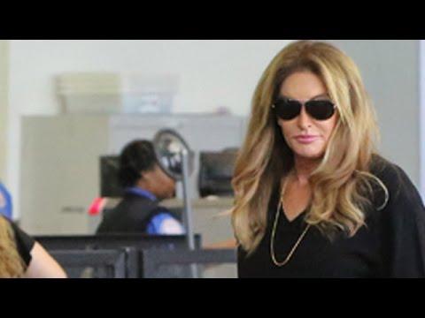 Caitlyn Jenner Catwalks The Waiting Line At TSA