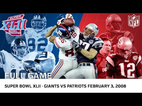 Giants Upset Undefeated 2007 Patriots | Super Bowl XLII | NFL Full Game (видео)