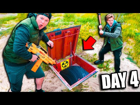 Real Life ZOMBIES BUNKER  BOX FORT! 24 Hour Zombie Survival Challenge (Nerf)