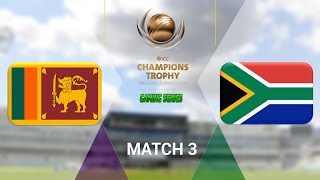 """ICC CHAMPIONS TROPHY 2017 GAMING SERIES - SRI LANKA v SOUTH AFRICA - GROUP B MATCH 3 (DON BRADMAN CRICKET 17, FULL 1080P HD, 30FPS, XBOX ONE S)Check out the Champions Trophy 2013 Gaming Series playlisthttps://www.youtube.com/playlist?list=PLdKwevnrzNGy2Jax2seo6LK0hiYjwt1PKICC Champions Trophy 2017 FixturesMatch 1 - England v BangladeshMatch 2 - Australia v New ZealandMatch 3 - South Africa v Sri LankaMatch 4 - India v PakistanMatch 5 - Australia v BangladeshMatch 6 - England v New ZealandMatch 7 - Pakistan v South AfricaMatch 8 - Sri Lanka v IndiaMatch 9 - New Zealand v BangladeshMatch 10 - England v AustraliaMatch 11 - India v South AfricaMatch 12 - Sri Lanka v Pakistan Semi Final GA1 v GB2Semi Final GB1 v GA2Final TBD v TBD*Warning: The following is a gameplay from the video game """"Don Bradman Cricket 17"""" for the ps4, Xbox one s and pc. It is by no means actual highlights of the ongoing event """"""""ICC Champions Trophy 2017""""  My gaming setuphttps://www.elgato.com/en/gaming/game-capture-hd60http://store.steampowered.com/app/464850/Don_Bradman_Cricket_17/http://www.vegascreativesoftware.com/ca/vegas-pro/Like me on Facebookhttps://www.facebook.com/PGEHamzah/?ref=bookmarksBe sure to message me any important questions onto there.Comment who you think will win the ICC Champions Trophy 2017 Gaming Series.Be sure to subscribe to join the PGE Army!"""