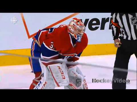 TOOTH!! - Carey Price gets Jared Tinordi's a skate in the face and brings his tooth to the bench. 2013 nhl stanley cup playoffs - Ottawa Senators vs Montreal Canadiens.