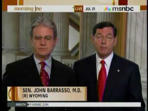 MNSBC - Senator Barrasso and Senator Coburn (the only two Medical Doctors in the Senate) talk about health care and their new show