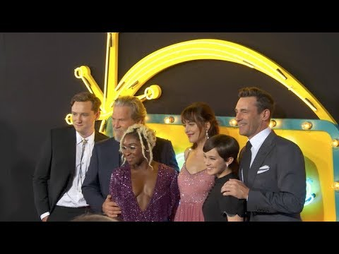 Jeff Bridges, Dakota Johnson, Jon Hamm and More at Bad Times at the El Royale's Premiere