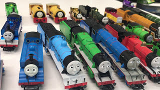 """Our complete collection of Thomas and Friends locomotives by Bachmann Trains in HO Scale and Hornby Trains in OO Scale. We have a large collection! Which is your favorite? We show our favorites as well.TO ENTER GIOVEAWAY FOR OLIVER HO SCALE BACHMANN CLICK THIS LINK: https://gleam.io/R8xnR/bachmann-oliver-ho-scale-giveawayRULES:1) Must have a valid email address - if you have spam filters be sure to allow bricktsar@bricktsar.com so that you do not miss notification if you are the winner2) There will be 1 (one) winner of the HO Scale Bachmann Oliver as shown in the video.3) All that is needed for entry is a valid email. Additional entries can be obtained by subscribing to my channels Train Tsar Fun and BrickTsar and by watching a video that is listed in the giveaway site.4) Winner must abide by all YouTube rules and have a valid account. 5) Winner must repsond within 1 week of being notified. If no response another winner will be selected.6) I will ship worldwide except countries that ban shipping from the US (Cuba, North Korea, etc). The follow country is also banned: RUSSIA. If the winner provides a shipping address of one of these countries the entry will be void and another winner selected.Please SUBSCRIBE for more Train fun: http://bit.ly/1v93HUTLeave a comment BUT PLEASE NOTE: All spam will be deleted and blocked. Comments such as """"Great video - check out my channel"""" will result in ban Help support our channel by buying on Amazon: http://amzn.to/2aUvc1fLEGO on Amazon: http://amzn.to/2aEgHxVMy LEGO Channel: http://www.youtube.com/user/bricktsarMy Toys Channel: http://www.youtube.com/user/jolson37My Son: http://www.youtube.com/user/theymightbebricksMy daughter: http://www.youtube.com/user/sowhosthatgirlMrs. BrickTsar: http://www.youtube.com/user/seagrove697My Website: http://www.traintsarfun.comKid and family friendly videos about toy trains, real trains, and more!Thomas the Tank Engine, Chuggington, LEGO trains, and more fun! トーマス大好き We love Thomas!Instagram: htt"""