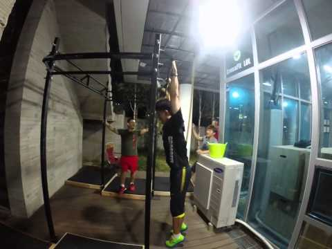 강릉크로스핏 CrossFit LOL victor gym 140801 PM 9:00 BAR MUSCLE UP 세용