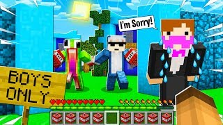 I Helped a GOLD DIGGER Sneak Into a BOYS ONLY Minecraft Server!