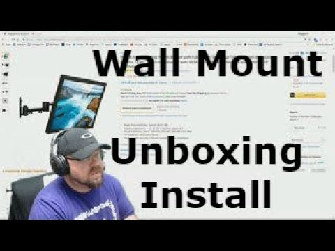 Unboxing / Install /Mount It! MI-4151 Full-Motion TV Wall Mount Bracket - Up 42""