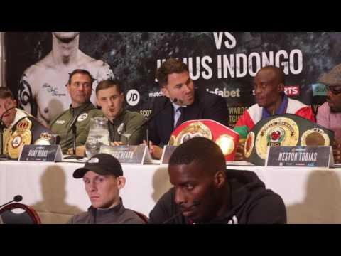 Ricky Burns v Julius Indongo press conference