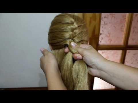 Колосок Техника плетения французской косы для новичков Плетение косичек