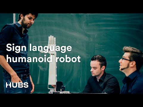 This 3D-printed sign language robot can translate speech on the fly