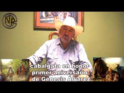 Realizaran este 28 de octubre 2017 cabalgata en honor al primer aniversario de Génesis Álvarez