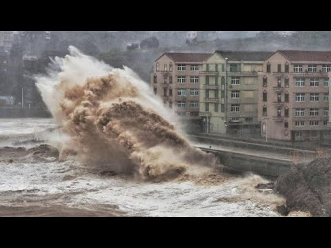 China: Eine Million Menschen wegen Supertaifun »Lekima« ...