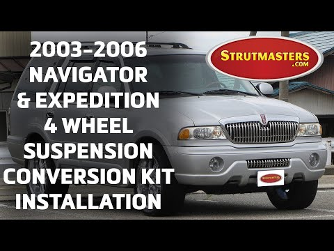 2003-2006 Expedition & Navigator With A Strutmasters Air Suspension Conversion (Install Video)
