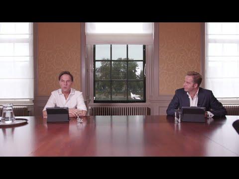 Livesessie premier Mark Rutte en minister Hugo de Jonge over de aanpak van het coronavirus