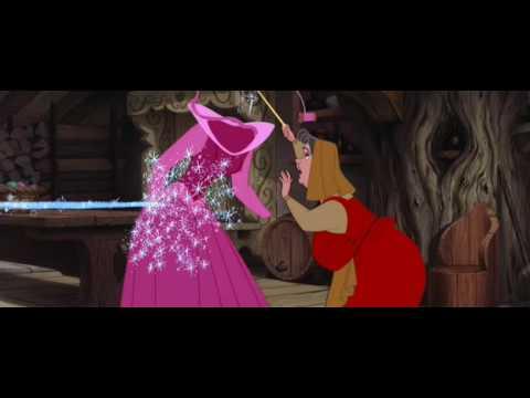 La Bella Durmiente - Asi se hace un vestido con magia :O