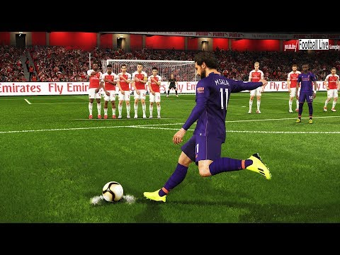 PES 2019 | ARSENAL Vs LIVERPOOL | Free Kick Goal SALAH & Amazing Goals | Gameplay PC