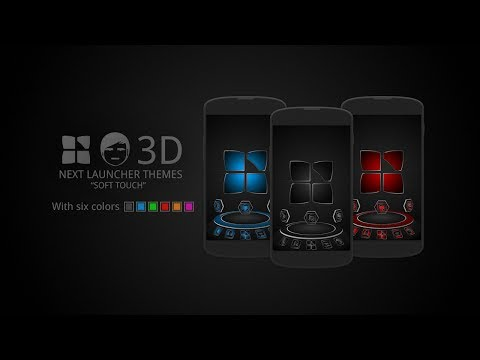 Video of Next launcher theme Soft Black
