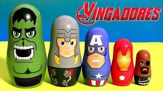 OS VINGADORES Brinquedos Surpresa de Empilhar