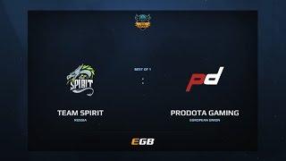 Team Spirit vs ProDota Gaming, Dota Summit 7, EU Pre-Qualifier