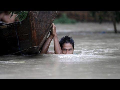 Μιανμάρ:Ένα εκατομμύριο οι πληγέντες από τις βιβλικές πλημμύρες