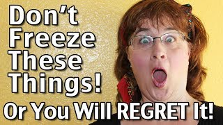 Subscribe to Living On A Dime on YouTube! http://bit.ly/1QDDmbNVisit Our Website: http://www.LivingOnADime.com/Free e-Mail Newsletter: http://bit.ly/1LfQf4yDon't Freeze These Things Or You Will Regret It!In this video, we discuss things you should NEVER freeze! We're big fans of freezing all sorts of food items to use later. Many things can easily be frozen, but there are a few items where freezing will result in disaster! Join us while we share which ones they are and some alternatives to avert catastrophe!Freezer Guide – How Long Will Food Keep In The Freezer?http://www.livingonadime.com/freezer-guide/Find all of our books, including our Dining On a Dime cookbook here:http://www.livingonadime.com/store/How To Save Money On Groceries e-Coursehttp://www.livingonadime.com/save-money-groceries-bill-ecourse/Get my How To Make Soap For Beginners e-Course here:http://www.livingonadime.com/how-to-make-soap-for-beginners/My Homemade Soap Channel - How to Make Soap On A Dimehttp://bit.ly/2m4nOSGBJ's YouTube Channelhttps://www.youtube.com/channel/UC_eboJJ346s-qIcysCTr3tAElly's YouTube Channelhttps://www.youtube.com/channel/UCcLi_6mgUNux0IqoADCd1aAFor More Easy Ideas, Visit Our Website: http://www.LivingOnADime.com/Our mailing address:Living On A DimeP.O. Box 193Mead, CO 80542You can send us an e-mail here:http://www.livingonadime.com/contact/**********************The equipment we use for our videosThe camera: for recipes: http://amzn.to/2azAcGZfor on the go shots: http://amzn.to/2amE3HKfor Live videos: http://amzn.to/2amDVs4The lights: http://amzn.to/2acLdM2The editing software:http://amzn.to/2aHsdYpThe computer: http://amzn.to/2ap7Ik2For Audio: http://amzn.to/2amF82cPlease note some of these links are affiliate links and we use them to bring you more recipes and tips! Thanks for your support! :-)________________________ OUR FREE NEWSLETTER!http://www.livingonadime.com/newsletter-signups/SUBSCRIBE TO OUR YOUTUBE CHANNEL!http://www.youtube.com/subscription_center?add_user=mkellam2OUR FACEBOOK! https://www.facebook.com/livingonadimeOUR PINTEREST! https://www.pinterest.com/livingonadime/#freezerguide#freezerguidetofreezingfood#donotfreeze#howlongcanyoufreezefood#howlongcanfoodbefrozen#whatfoodscanyoufreeze#whatcanyoufreeze#suitableforfreezing